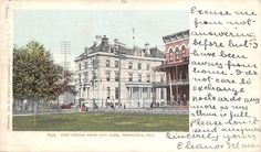Pensacola Florida~Post Office Across City Park~Hotel~1905