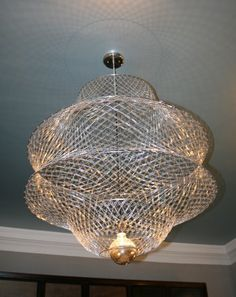 Paperclip chandelier... I can't picture it anywhere in my house but I'm still in love with it.