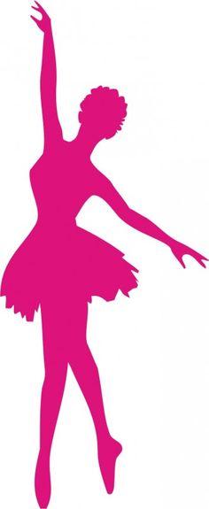 silhouetta ballerina rosa