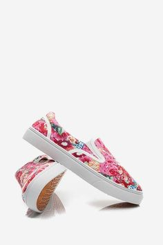 Trampki Slip On Red Floral