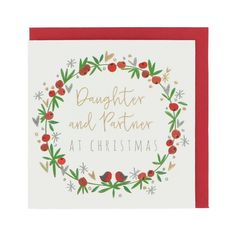 Wreath daughter and partner Christmas card
