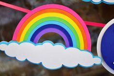 Rainbow First Birthday, Rainbow Theme, First Birthdays, Banner, Unique Jewelry, Handmade Gifts, Etsy, Banner Stands, Kid Craft Gifts