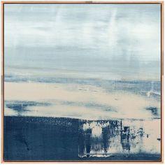 Coastal II Framed Stretched Canvas Art ($539) via Polyvore