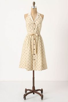 Ok,this is seriously cute.Tons of little bees buzz on a cotton and silk blend dress.