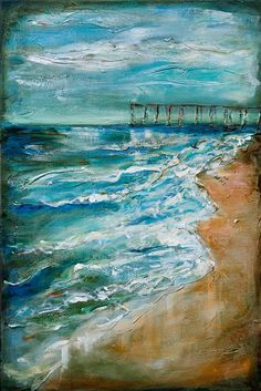Pier And Tides Painting  - Pier And Tides Fine Art Print