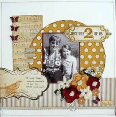 Love the colors in this layout by Julia Short for Www.inspiredtoscrap.net