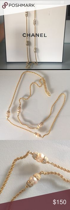 "Christian Dior vintage pearl and gold tone 22"" Looking gorgeous but still remains its simplicity and elegance in style! Dior Jewelry Necklaces"