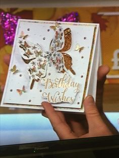 Chloes Creative Cards, Stamps By Chloe, Birthday Cards, Happy Birthday, Crafters Companion Cards, Easy Cards, Butterfly Cards, Decoration, Handmade Cards