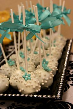 """Photo 32 of 35: Damask, Blue Ball Mason Jars, Personal Shower / Bridal/Wedding Shower """"Belle of the Ball Bridal Shower""""   Catch My Party"""