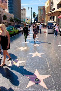 Hollywood Boulevard, Sandra Bullock, Street View, Travel Photography, Scenery Photography, Viajes