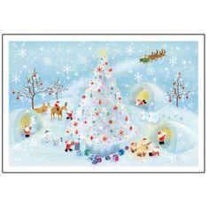 Greeting Life Mini Santa Christmas Card S-388