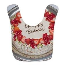 Happy Birthday Cake Polyester Baby Bib by - CafePress Happy Birthday Cakes, Baby Bibs, Yummy Cakes, Strawberry, This Or That Questions, Bibs, Strawberries, Birthday Cakes, Amazing Cakes