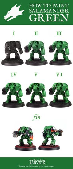 Ever want to know how to paint Salamaders from Check out the full tutorial… Warhammer 40k Salamanders, Salamanders Space Marines, Warhammer 40000, Warhammer Paint, Warhammer Models, Nightmare Before Christmas Village, Into The Fire, Warhammer 40k Miniatures, Paint Effects