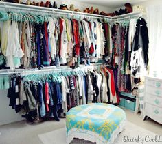s 16 brilliant ways to squeeze much more into your closet, closet, organizing, storage ideas, Double up your hanging rods