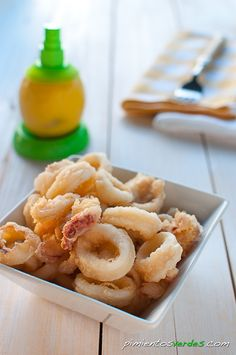 Calamares a la andaluza | Pimientos verdes - Gastroblog