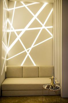 Inspirational Patterns that can be interpreted by The Art Mosaic Factory and be created into a custom I wall I backlit I geometric I interior design Interior Lighting, Home Lighting, Modern Lighting, Lighting Design, Lighting Stores, Linear Lighting, Wall Design, House Design, Plafond Design