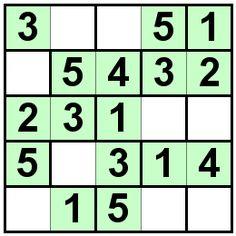 Number Logic Puzzles: 20580 - Bricks size 5