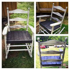 Restored and refinished rocking chair