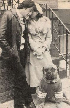 Sylvester Stallone and Talia Shire (& Butkus)