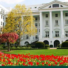 The Greenbrier Hotel, West Virginia.  The Greenbrier is a Forbes four-star and AAA Five Diamond Award winning luxury resort located just outside the town of White Sulphur Springs in Greenbrier County, West Virginia, United States.