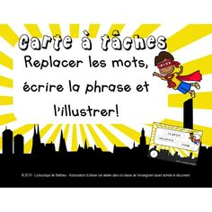Cartes à tâches de lecture (replacer, écrire) Team Teaching, Teaching Ideas, Breakout Edu, Superhero Classroom, Core French, Teachers Corner, French Classroom, French Resources, School 2017