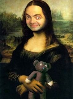 D-Toys Leonardo da Vinci Mona Lisa Jigsaw Puzzle , Funny Profile Pictures, Meme Pictures, Cool Pictures, Caricatures, Funny Faces Images, Mr Bean Funny, La Madone, Mona Lisa Parody, Fools And Horses