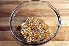 Microwave Popcorn in a Glass Bowl