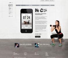 Nike Training Club Website by Dinushi Perera, via Behance