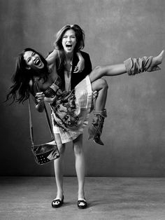 Chanel Iman & Karlie Kloss. I remember when they were on the cover of Teen Vogue for the first time. Love them.