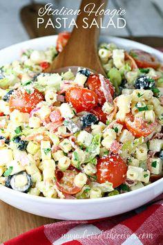 Chicken Pesto Pasta Salad, Best Pasta Salad, Pasta Salad Italian, Pasta Salad Recipes, Healthy Salad Recipes, Healthy Eats, Healthy Foods, Pasta Dishes, Food Dishes