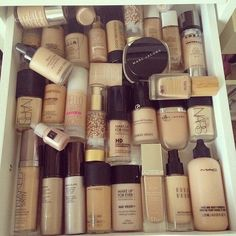 Best drugstore and high end foundations. #makeup #foundation #beauty