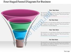 1214 four staged funnel diagram for business powerpoint template Slide01