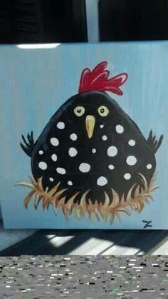 Rooster canvas painting