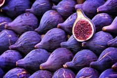 Figs! With goat's cheese, walnuts and honey. #purple #food #garden
