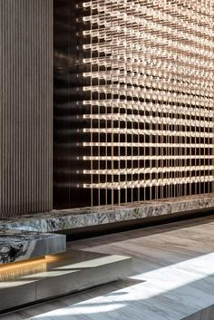 17 Ideas For Lobby Feature Wall Design Interiors Interior Design Blogs, Interior Design Companies, Lobby Interior, Interior Walls, Interior Architecture, Interior And Exterior, Feature Wall Design, Wood Interiors, Design Interiors