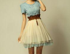 Leinen Kleid for summer♡♡♡