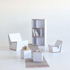 Kenno la sedia in cartone riciclato a misura di bimbo