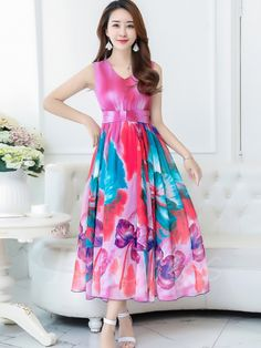 #maxi #flowers #afflink Sleeveless Pleated Flowers Pattern Maxi Dress - $34.99 http://shareasale.com/r.cfm?b=687738&u=1560813&m=48791&urllink=https%3A%2F%2Fwww%2Etbdress%2Ecom%2Fproduct%2FSleeveless%2DPleated%2DFlowers%2DPattern%2DWomens%2DMaxi%2DDress%2D12947158%2Ehtml&afftrack=
