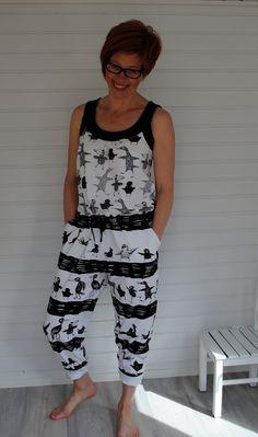 HommaHuone: Tästä kesä voi alkaa... Sewing, Pants, Dresses, Fashion, Trouser Pants, Vestidos, Moda, Dressmaking, Couture