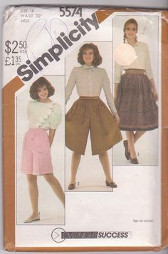 Vintage 1980s sewing pattern for pleated skirt by beththebooklady, $9.99