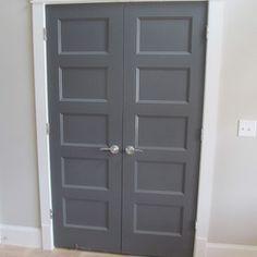 dark gray interior painted doors - Google Search