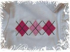 Machine Embroidery applique Design  Argyle Set