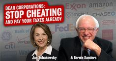 Bernie Sanders has a bill that would make it possible for corporations to pay no taxes and get tax subsidies, too. Sign the petition...