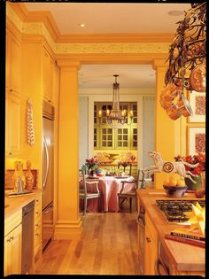 colors, skirted table and chandelier