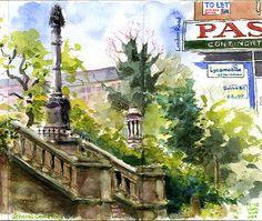 Urban Sketchers: Usk Yorkshire: Braving the Sheffield Weather!