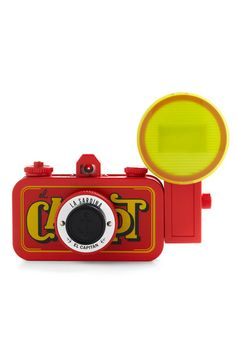 Comes with color filters for the flash. 22mm Fish-eye lens.