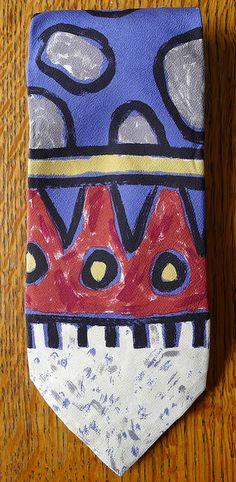 1980s Memphis Milano N Du Pasquier Design Tie by Fletcher & son, via Flickr