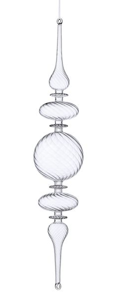 Doctor Zhivago Glass Swirl Finial Ornament