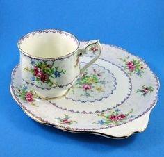 Royal Albert Petit Point China Tea Cup and Saucer Snack Set