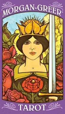 Based on the structure of the Rider-Waite Tarot, this uniquely expressive deck features magical imagery presented in deep, saturated colors. The borderless 78-card deck allows the details of tarot scenery and symbolism to be viewed from a close, intimate perspective. Morgan-Greer Tarot draws the reader into its evocative artwork.